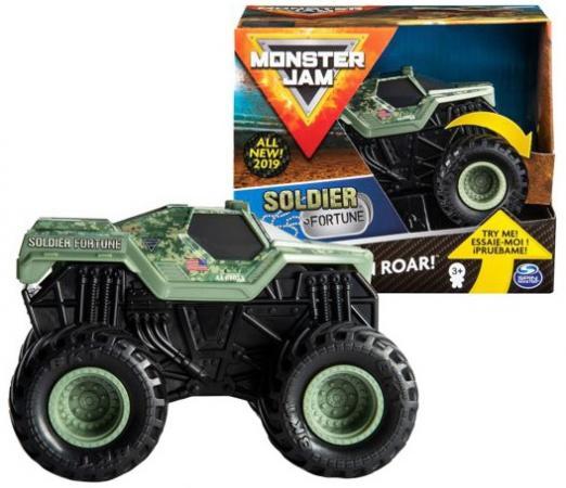 Машинка Monster Jam Звуки мотора Soldier Fortune машинка monster jam figures el toro loco 6044941 20103403
