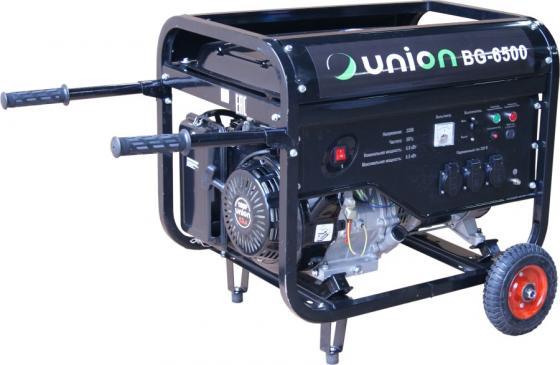 Генератор UNION BG-6500 бензиновый 4-хтактный одноцилиндровый с воздушным охлаждением цены