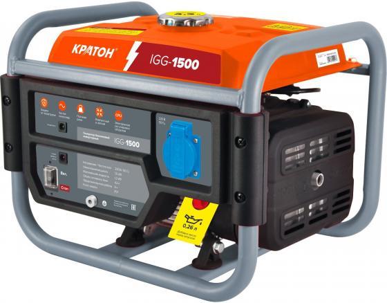 Бензиновый генератор КРАТОН IGG-1500 инверторный 220В 50Гц 1000/1200Вт 1кВт 87см3 4.2л дизельный генератор кратон dg 4500 3pew