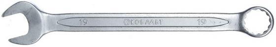 Ключ комбинированный КОБАЛЬТ 642-944 (19 мм) CrV ключ гаечный комбинированный кобальт 642 968 22 мм