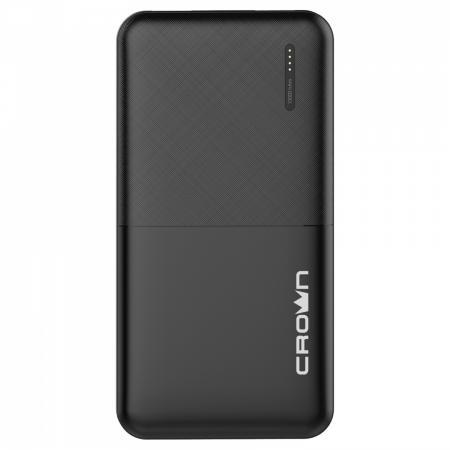 Crown Зарядное устройство CMPB-604 black (power bank, 10000 mAh, Li-Pol, вход: micro-USB-5В/2А; выход: USB-5В/2А)