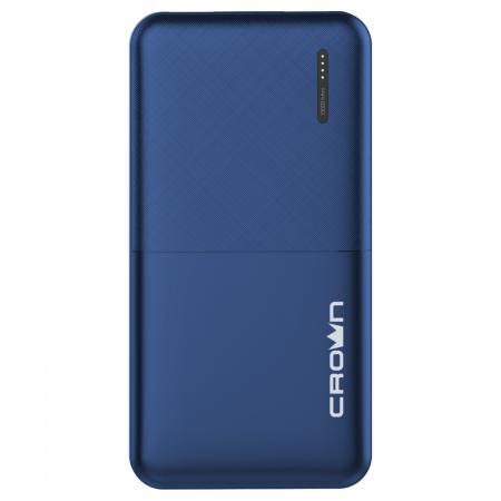 Фото - Crown Зарядное устройство CMPB-604 blue (power bank, 10000 mAh, Li-Pol, вход: micro-USB-5В/2А; выход: USB-5В/2А) зарядное устройство ctek mxt 14 power bank в подарок