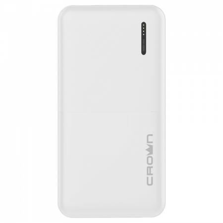 Crown Зарядное устройство CMPB-604 white (power bank, 10000 mAh, Li-Pol, вход: micro-USB-5В/2А; выход: USB-5В/2А)