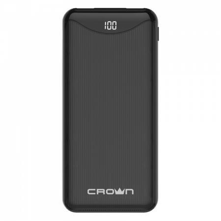 Crown Зарядное устройство CMPB-603 black (power bank, 10000mAh, Li-Pol, входы: micro-USB/typec-C - выходы: 2*USB(A)+type-C QC3.0, PD18W, цифровой дисплей)
