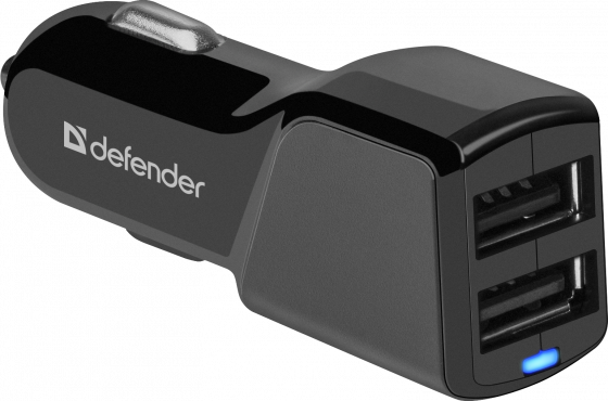 Defender Автомобильный адаптер 2xUSB, 5V/3.4А (UCA-34) (83834)