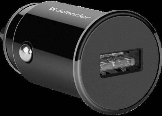 Defender Автомобильный адаптер 1xUSB, 5V/1А , черный (UCA-12) (83591)