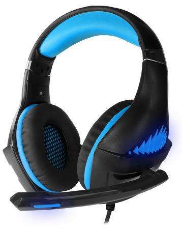 лучшая цена Игровая гарнитура проводная Crown CMGH-2101 черный синий