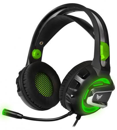 лучшая цена Игровая гарнитура проводная Crown CMGH-3002 черный зеленый