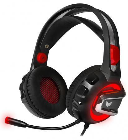 Игровая гарнитура проводная Crown CMGH-3000 черный красный гарнитура