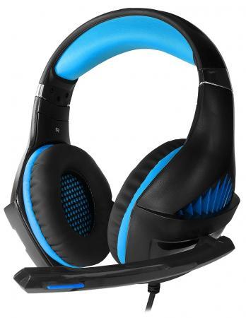 Игровая гарнитура проводная Crown CMGH-2001 черный синий гарнитура