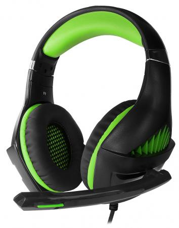 Игровая гарнитура проводная Crown CMGH-2002 черный зеленый цены онлайн
