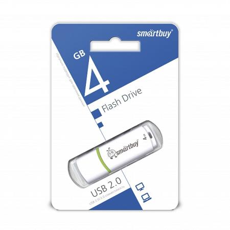 Smartbuy USB Drive 4Gb Crown White SB4GBCRW-W smartbuy smart buy crown 8гб черный usb 2 0