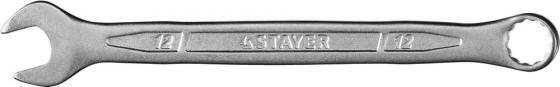 Ключ STAYER PROFI гаечный комбинированный, Cr-V сталь, хромированный, 12мм [27081-12] цена