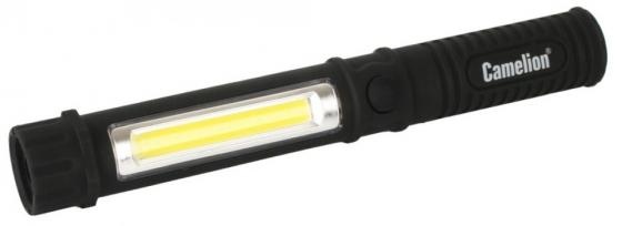 Camelion LED51521 (фонарь-ручка, COB LED+1W LED, 3XR03, пластик, магнит, клипса, блистер)