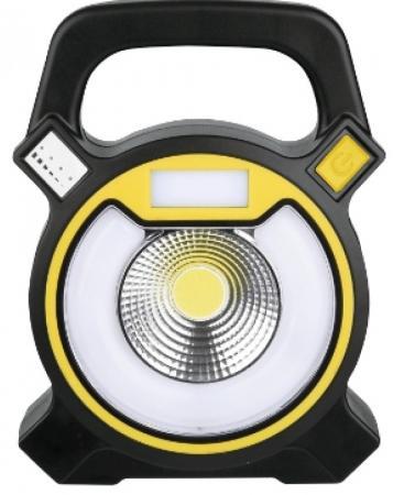 Camelion LED5631 (фонарь акк., кемп, COB LED, 5В 1,2,4А-ч, USB, пласт, черный, коробка)