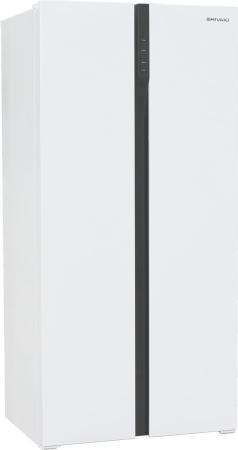 Холодильник Shivaki SBS-444DNFW белый (двухкамерный) холодильник shivaki shrf 230dw белый
