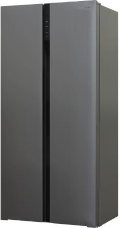 Холодильник Shivaki SBS-444DNFX нержавеющая сталь (двухкамерный) shivaki холодильник shivaki shrf 601sdw нержавеющая сталь двухкамерный