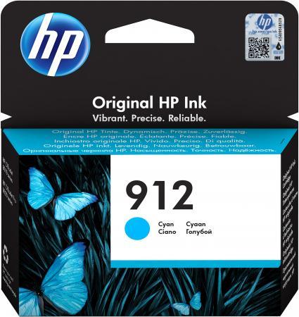 Картридж струйный HP 912 3YL77AE голубой (315стр.) для HP OfficeJet 801x/802x