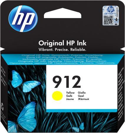 Фото - Картридж струйный HP 912 3YL79AE желтый (315стр.) для HP DJ IA OfficeJet 801x/802x картридж струйный hp 728 f9k15a желтый 300мл для hp dj t730 t830