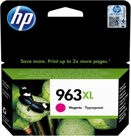 Фото - Картридж струйный HP 963 3JA28AE пурпурный (1600стр.) для HP OfficeJet Pro 901x/902x/HP картридж 963 струйный желтый 700 стр 3ja25ae