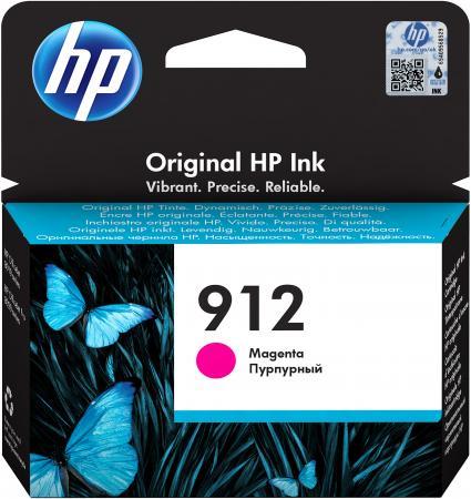 Фото - Картридж струйный HP 912 3YL78AE пурпурный (315стр.) для HP OfficeJet 801x/802x картридж струйный hp 728 f9k17a голубой 300мл для hp dj t730 t830
