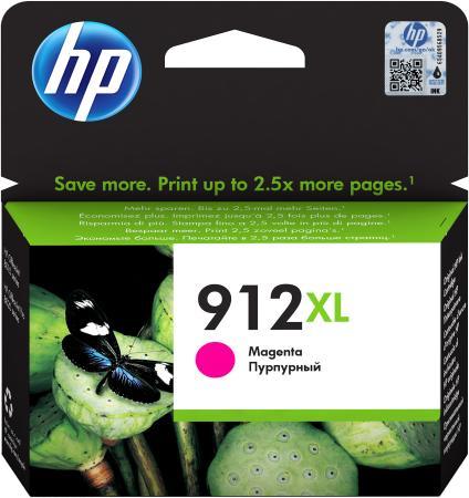 Фото - Картридж струйный HP 912 3YL82AE пурпурный (825стр.) для HP OfficeJet 801x/802x картридж струйный hp 728 f9k17a голубой 300мл для hp dj t730 t830