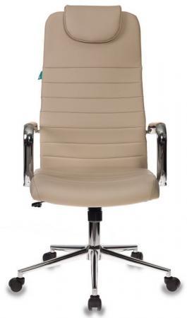 Кресло руководителя Бюрократ KB-9N/ECO/OR-12 бежевый сиденье бежевый искусственная кожа крестовина хром колеса черный кресло компьютерное бюрократ kb 9 eco