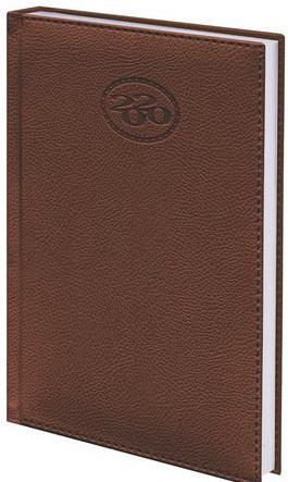 """Ежедневник датированный 2020 А5, BRAUBERG """"Favorite"""", фактурная кожа, коричневый, 138х213 мм, 129691"""