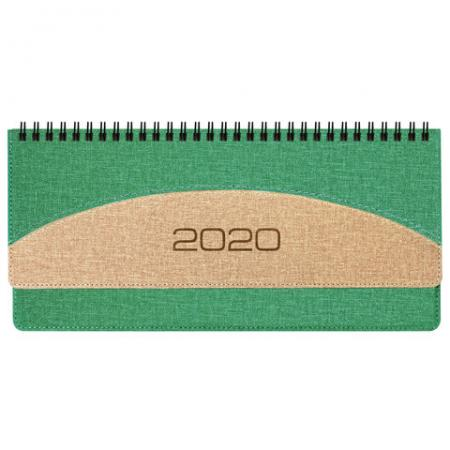 "Планинг настольный датированный 2020 BRAUBERG ""SimplyNew"", кожзам, зеленый с кремовым, 305х140 мм, 129771 планинг датированный index basic 2018 ipd1518 rd"