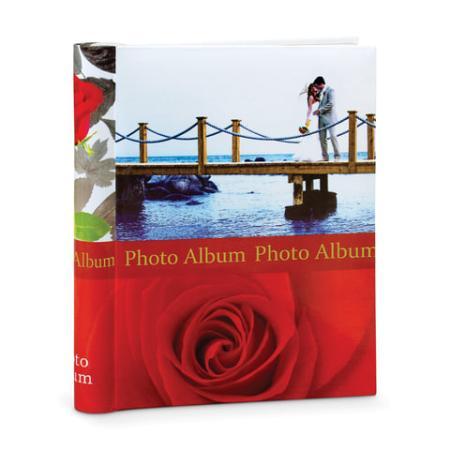 """Фотоальбом BRAUBERG на 20 магнитных листов, 23х28 см, """"Чувства"""", красный, 390685 фотоальбом image art sp21 в013 10 магнитных листов c0040407"""
