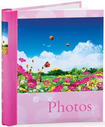 """Фотоальбом BRAUBERG на 20 магнитных листов, 23х28 см, """"Дивный луг"""", розовый, 390686 фотоальбом image art sp21 в013 10 магнитных листов c0040407"""
