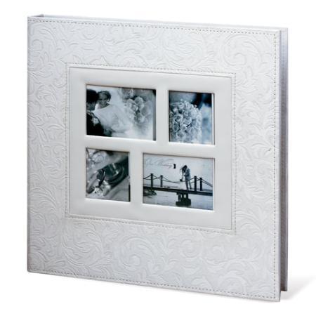 Фотоальбом BRAUBERG свадебный, 20 магнитных листов 30х32 см, обложка под фактурную кожу, на кольцах, белый, 390691 фотоальбом image art sp21 в013 10 магнитных листов c0040407