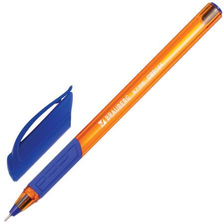 Шариковая ручка масляная BRAUBERG Extra Glide GT Tone Orange синий 0.35 мм OBP144 шариковая ручка масляная brauberg x 100 синий