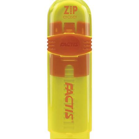 Резинка стирательная FACTIS ZIP (Испания), пластиковый держатель, 80x10x10 мм, ПВХ, ассорти, PTF1030