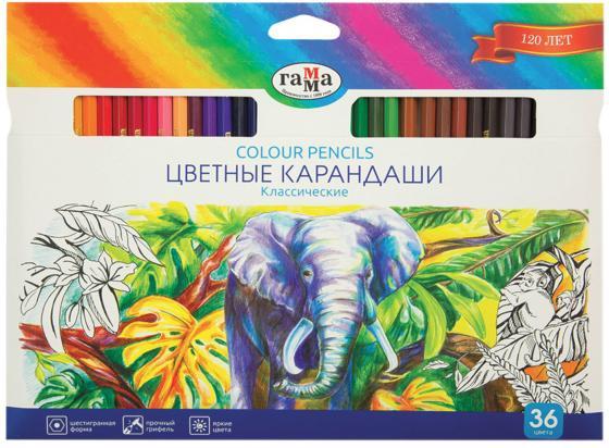 Набор цветных карандашей Гамма Классические 36 шт 174 мм 181477