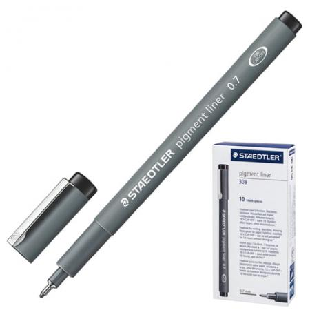 Капиллярная ручка капилярный Staedtler Pigment Liner черный 0.7 мм faber castell ручка капиллярная ecco pigment 0 7 мм цвет чернил черный