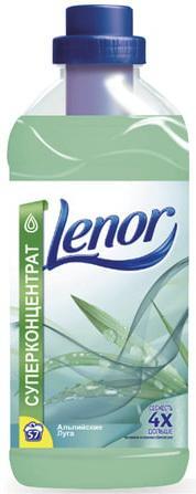 Кондиционер-ополаскиватель для белья 2 л, LENOR (Ленор) Альпийские луга, концентрат кондиционер для белья lenor миндальное масло 2л