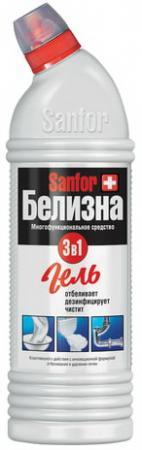 Средство для отбеливания и чистки тканей 1 кг, Белизна SANFOR 3в1 (Санфор 3в1), гель, 2730