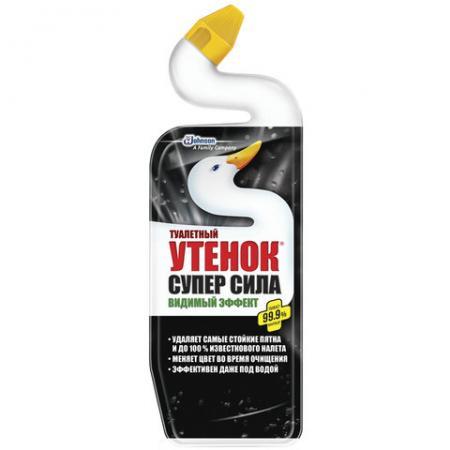 Средство для уборки туалета для унитаза Туалетный утенок Видимый Эффект 500мл для унитаза утенок