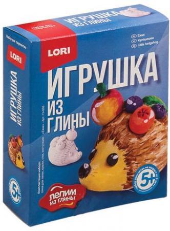 """Набор для изготовления игрушки из глины """"Ежик"""", глина, краски, стек, LORI, Гл-005 набор для изготовления игрушки феникс набор для изготовления игрушки"""