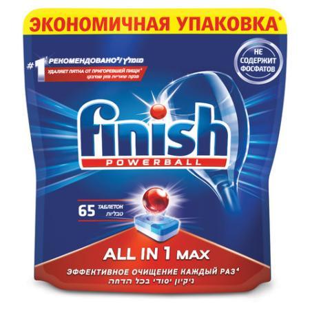 Таблетки для мытья посуды в посудомоечных машинах 65 шт. FINISH (Финиш) All in 1, 3017406 цена 2017