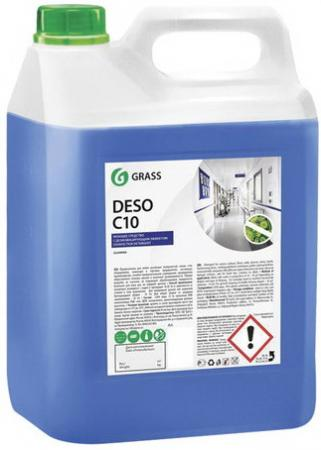 Средство дезинфицирующее 5 кг GRASS DESO C10, нейтральное, низкопенное, концентрат, 125191 средство для чистки и дезинфекции deso 5 кг grass 125191