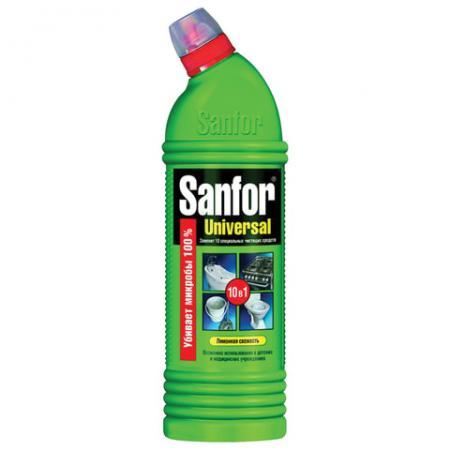 Чистящее средство для ванной комнаты и сантехники SANFOR Свежесть лимона 750мл