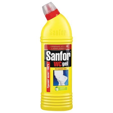 Средство для уборки туалета 750 г, SANFOR WC gel (Санфор гель) Лимонная свежесть, 1550 цена