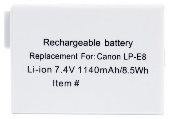 Аккумулятор Prolike PR-LPE8 (LP-E8 для EOS 600D, 650D, 700D) 1140mAh