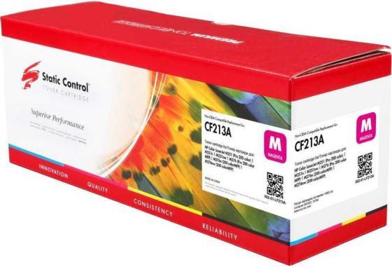 Фото - Тонер Картридж Static Control 002-01-LF213A CF213A пурпурный (1800стр.) для HP LJ Pro 200 M251/M276 смягчающий бальзам a derma exomega control 200 мл