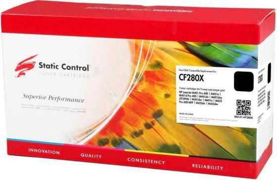 Фото - Тонер Картридж Static Control 002-01-VF280X CF280X черный (6900стр.) для HP LJ Pro 400/M401/M425 печка в сборе cet cet2729 rm1 8809 000 для hp laserjet pro 400 m401 m425
