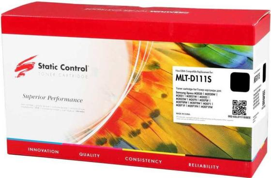 Тонер Картридж Static Control 002-02LD111SSEE MLT-D111S черный (1000стр.) для Samsung Xpress M2022/M2020/M2021/M2020W/M2070 цены