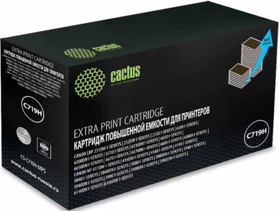 цена на Тонер Картридж Cactus CS-C719H-MPS черный (8000стр.) для Canon MF5840dni-Sensys/MF5880dni; LBP6300i/6650i