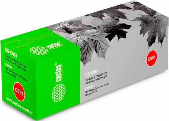 цена на Тонер Картридж Cactus CS-C051 черный (1700стр.) для Canon LBP 62dw/MF 264dw/267dw/269dw